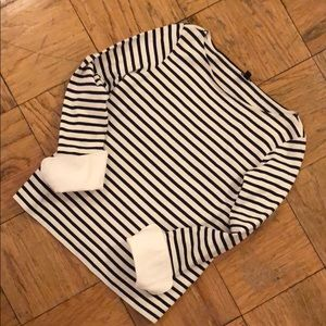 J.Crew Striped Top with Button Cuffs - Like New